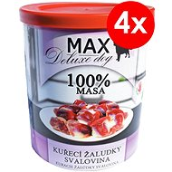 MAX deluxe kuřecí žaludky – svalovina 800 g, 4 ks