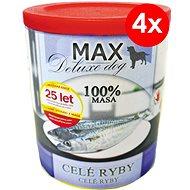 MAX deluxe celé ryby 800 g, 4 ks - Konzerva pro psy
