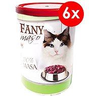FANY maso 400 g, 6 ks - Konzerva pro kočky