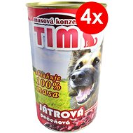TIM 1200 g játrová, 4 ks - Konzerva pro psy