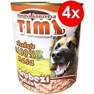 Konzerva pro psy TIM 800 g drůbeží, 4 ks