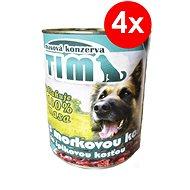 TIM 800g s morkovou kostí, 4ks - Konzerva pro psy