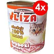 LÍZA 800 g drůbeží, 4 ks - Konzerva pro kočky