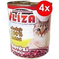 LÍZA 800 g hovězí, 4 ks - Konzerva pro kočky