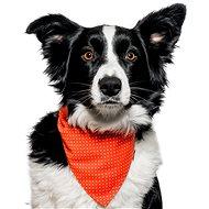 Chiweto Dotty L, oranžová, puntíky - Šátek pro psy