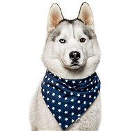 Chiweto Bonny M, tmavě modrá, hvězdičky - Šátek pro psy