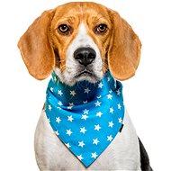 Chiweto Lucky M, světle modrá, hvězdičky - Šátek pro psy