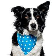 Chiweto Lucky L, světle modrá, hvězdičky - Šátek pro psy