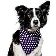 Chiweto Besi L, tmavě modrá, puntíky - Šátek pro psy