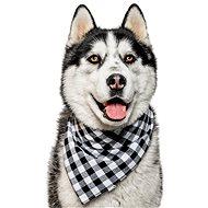 Chiweto Bady S, černobílé kostky - Šátek pro psy