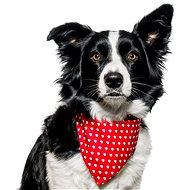 Chiweto Maggie L, červená, srdíčka - Šátek pro psy