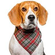 Chiweto Deluxe Bruno M, šedočervená kostka - Šátek pro psy