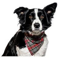 Chiweto Deluxe Bruno L, šedočervená kostka - Šátek pro psy