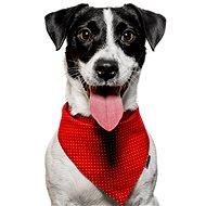Chiweto Deluxe Akita M, červená, zlatý puntík - Šátek pro psy