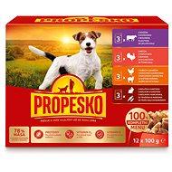 Kapsička pro psy Propesko kapsa pes kuře/jehně,krůta,králík/mrkev,hovězí 12 × 100g - Kapsička pro psy
