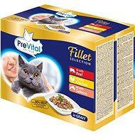 Prevital NATUREL dušené filetky v omáčce 12 × 85 g - Kapsička pro kočky