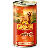 Propesko Dog Pieces of Chicken + Pasta + Carrot 1240g - Canned Dog Food
