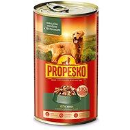 Propesko kousky pes králík+hovězí+těstoviny 1240 g - Konzerva pro psy