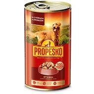 Konzerva pro psy Propesko kousky pes zvěřina+drůbež 1240 g