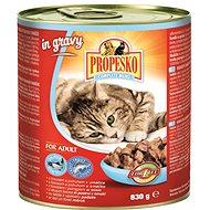 Propesko kousky kočka losos a pstruh v omáčce 830 g