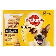 Pedigree kapsičky hovězí a jehněčím ve šťávě 4 × 100 g - Kapsička pro psy