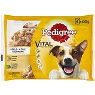 Pedigree kapsičky jehněčím a kuřecím v želé 4 × 100 g - Kapsička pro psy