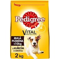 Pedigree Mini s kuřecím a zeleninou 2 kg - Granule pro psy