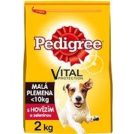 Pedigree Vital Protection granule hovězí se zeleninou pro dospělé psy malých plemen 2 kg - Granule pro psy