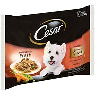 Cesar kapsička masový výběr ve šťávě pro dospělé psy 4 × 100 g
