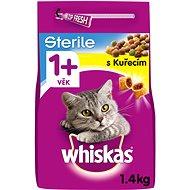 Granule pro kočky Whiskas granule kuřecí pro kastrované dospělé kočky 1,4 kg - Granule pro kočky