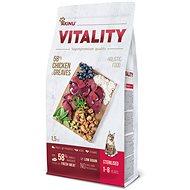 Akinu VITALITY cat sterilised chicken & greaves 1,5 kg - Granule pro kočky