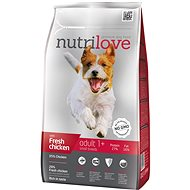 Nutrilove ADULT S fresh chicken 1,6 kg - Granule pro psy