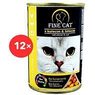 Fine Cat Konzerva pro kočky DUO Kuřecí s telecím 12 × 415 g - Konzerva pro kočky