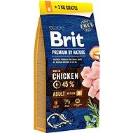 Brit Premium by Nature Adult M 15 + 3 kg  - Granule pro psy