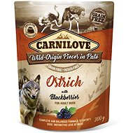 Kapsička pro psy Carnilove Dog Pouch Paté Ostrich with Blackberries 300 g