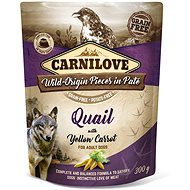 Kapsička pro psy Carnilove Dog Pouch Paté Quail with Yellow Carrot 300 g