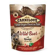 Carnilove Dog Pouch Paté Wild Boar with Rosehips 300 g