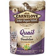 Kapsička pro kočky Carnilove Cat Pouch Rich in Quail Enriched with Dandelion for sterilized 85 g