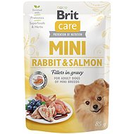 Kapsička pro psy Brit Care Mini Rabbit & Salmon Fillets in Gravy 85 g