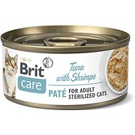 Brit Care Cat Sterilized Tuna Paté with Shrimps 70 g