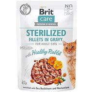 Brit Care Cat Sterilized Fillets in Gravy with Healthy Rabbit 85 g - Kapsička pro kočky