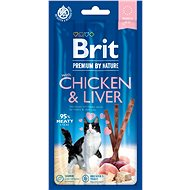 Pamlsky pro kočky Brit Premium by Nature Cat Sticks with Chicken & Liver 3 ks - Pamlsky pro kočky