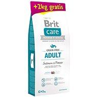Brit Care Grain-free Adult Salmon & Potato 12 + 2 kg - Granule pro psy