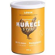 Louie Kompletní krmivo - kuřecí(95%) s rýží(5%) 400g - Konzerva pro psy