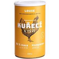 Louie Kompletní krmivo - kuřecí (95%) s rýží (5%) 1200g