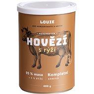 Louie Kompletní krmivo - hovězí a vepřové (95%) s rýží (5%) 400g - Konzerva pro psy