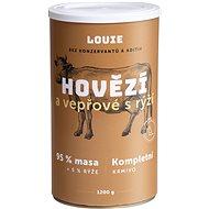 Louie Kompletní krmivo - hovězí a vepřové (95%) s rýží (5%) 1200g - Konzerva pro psy
