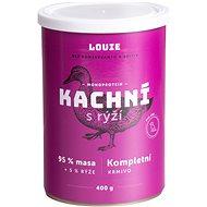 Louie Kompletní krmivo - kachní (95%) s rýží (5%) 400g - Konzerva pro psy