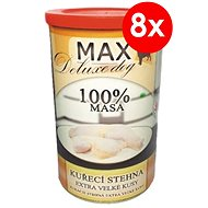 MAX Deluxe Chicken Thighs 1200g, 8 pcs - Canned Dog Food