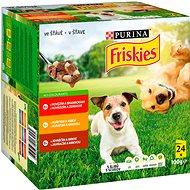 Kapsička pro psy Friskies Adult kapsičky s hovězím, kuřecím a jehněčím ve šťávě 24 × 100 g - Kapsička pro psy